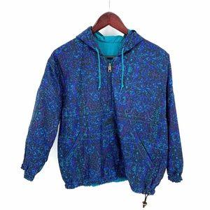 Vintage 90s Nike Reversible Hoodie Jacket Teal